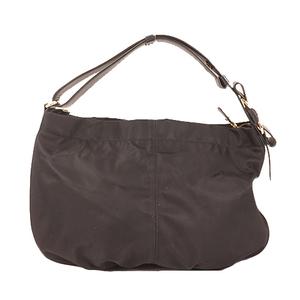 Salvatore Ferragamo Shoulder Bag Women's Nylon Handbag/Shoulder Bag Black