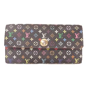Louis Vuitton Monogram Multicolore M93747 Women's Monogram Multicolore Long Wallet (bi-fold) Grenade,Noir