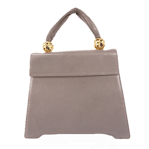 Salvatore Ferragamo Handbag Women's Leather Handbag Gray