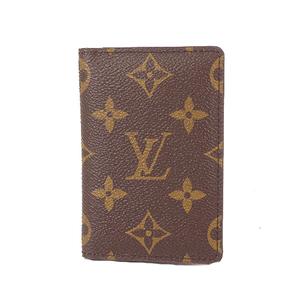 Louis Vuitton Monogram Pocket Organizer M61732 Monogram Travel Pass Case Brown