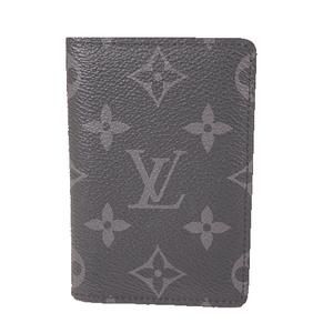 Louis Vuitton Monogram Eclipse Organizer De Poche M61696  Card Case Black