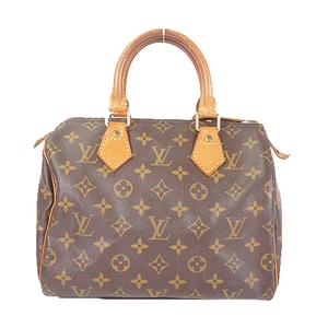 Louis Vuitton Monogram Speedy 25 M41528 Women's Boston Bag,Handbag Brown