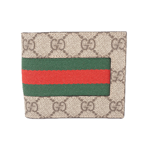 Gucci Shelly 408827 Unisex,Women,Men GG Supreme Bill Wallet (bi-fold) Beige