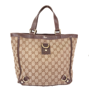 Gucci GG Canvas Tote Bag 130739 Women's GG Canvas Handbag,Tote Bag Beige