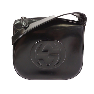 Auth Gucci 2WAY Bag Women's Leather Shoulder Bag Black