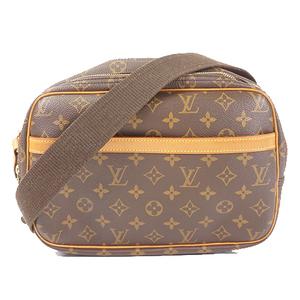 Auth Louis Vuitton Monogram Reporter PM M45254 Women's Shoulder bag Brown