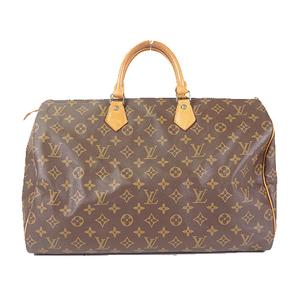 Auth Louis Vuitton Monogram Speedy 40 M41106 Women's Boston Bag,Handbag Brown