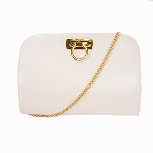 Salvatore Ferragamo Gancini 2way Bag White