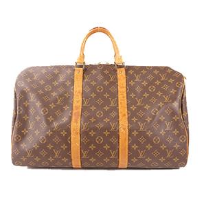 Auth Louis Vuitton Monogram Keepall 50 Boston Bag Monogram