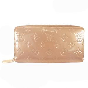 Auth Louis Vuitton Vernis M91761 Women's  Long Wallet (bi-fold) Beige Poodle