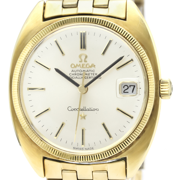 Omega Constellation Automatic Gold Plated Men's Dress Watch 168.027