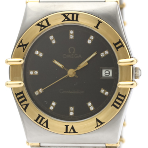 Omega Constellation Quartz Stainless Steel,Yellow Gold (18K) Men's Dress Watch 396.1076