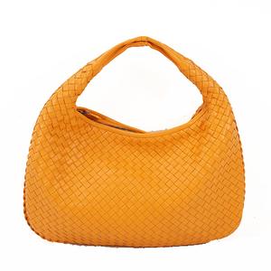 Bottega Veneta Intrecciato Shoulder Bag Women's Leather Handbag,Shoulder Bag Orange