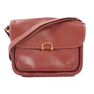 Auth Cartier Must Women's Leather Shoulder Bag Bor
