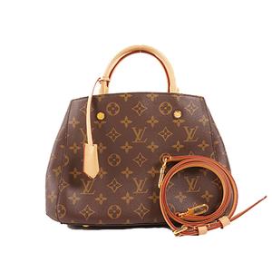Auth Louis Vuitton Handbag Monogram Montaigne BB M41055