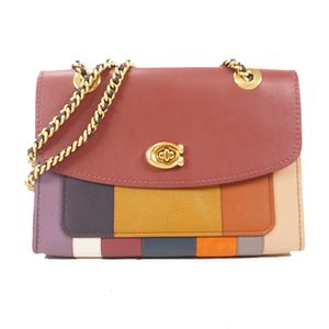 Auth Coach Women's Leather Handbag,Shoulder Bag Multi-color