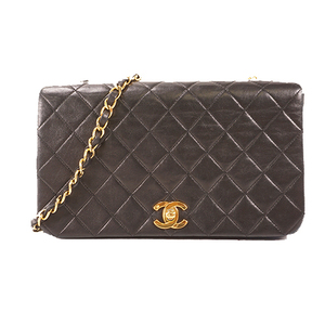 Auth Chanel Matelasse   Chain Shoulder Bag Leather
