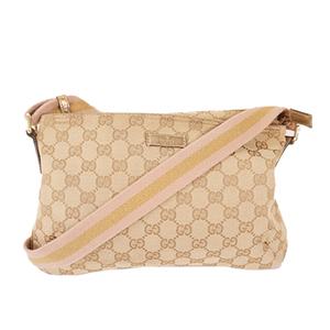 Auth Gucci shoulder bag GG canvas beige 189749