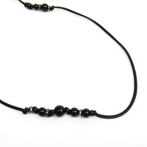 Bottega Veneta Leather,Silver 925 Unisex Chain Necklace (Black,Silver)