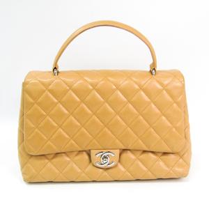 シャネル(Chanel) マトラッセ レザー ハンドバッグ ベージュ