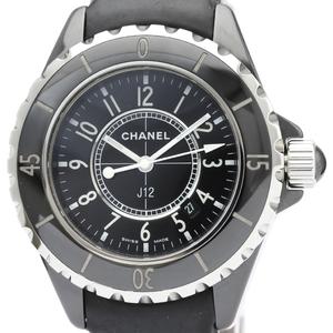 【CHANEL】シャネル J12 セラミック レザー クォーツ レディース 時計 H0680