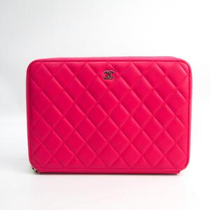 シャネル(Chanel) マトラッセ レディース レザー クラッチバッグ ピンク