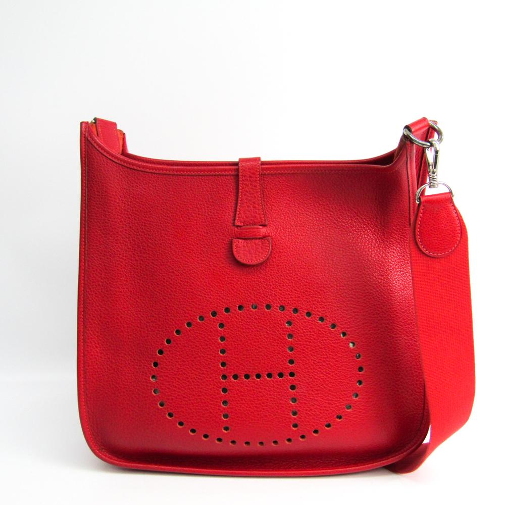 Hermes Evelyne I GM Women's Chevre Coromandel Leather Shoulder Bag Rose Jaipur