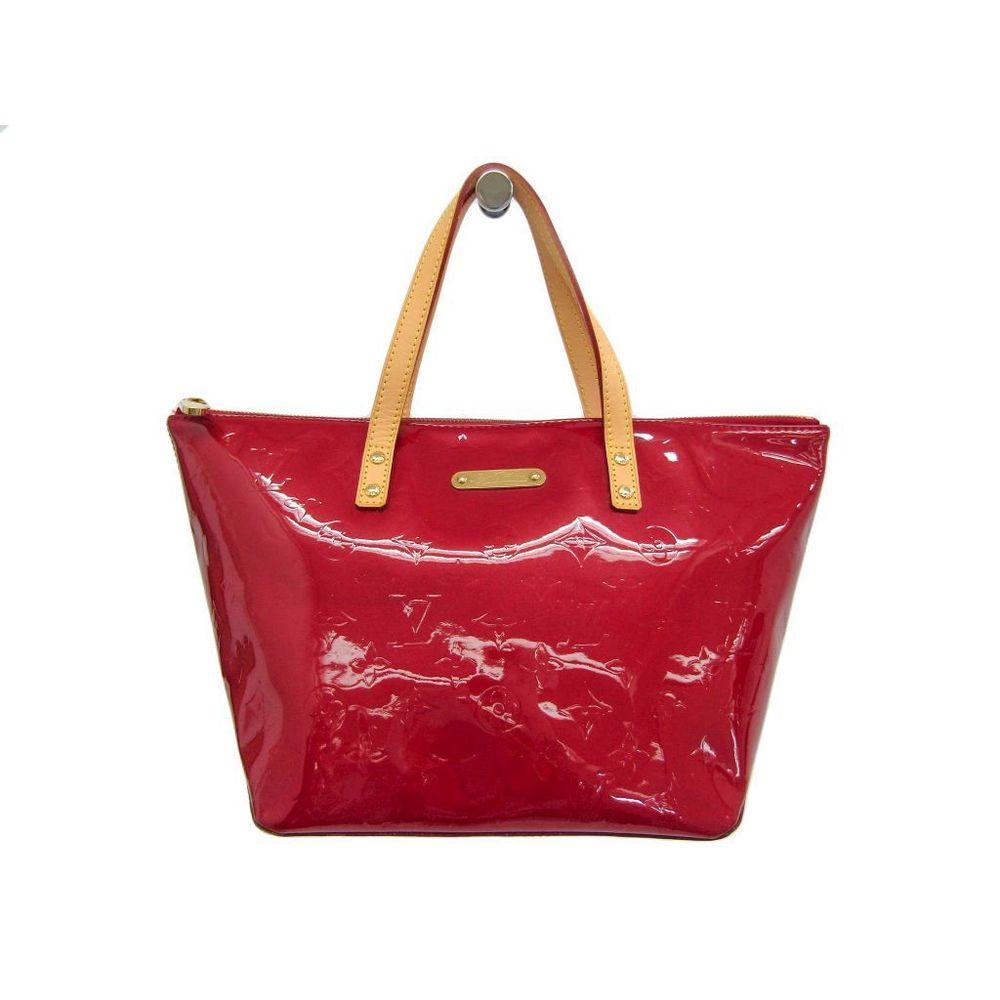 Louis Vuitton Monogram Vernis Bellevue PM M93583 Women's Handbag Pomme D'amour