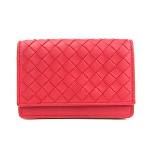 Bottega Veneta Intrecciato Business Card Case (Red) 133945