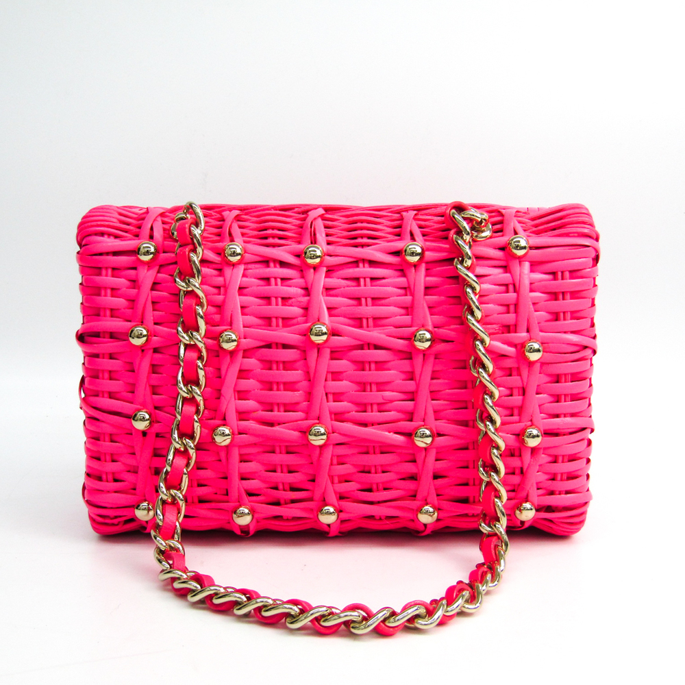 Kate Spade PXRU2382 Women's Rattan Handbag Pink