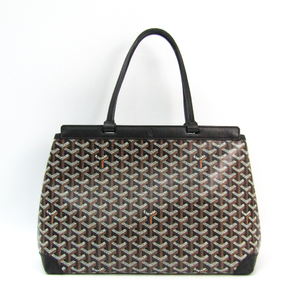 Goyard Bellechasse PM Canvas,Leather Tote Bag Black