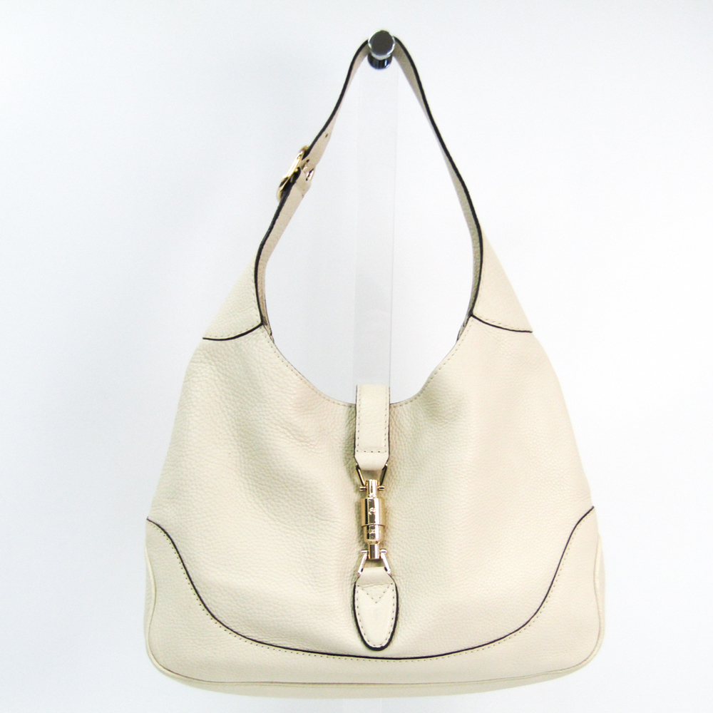 Gucci New Jackie 277520 Women's Leather Shoulder Bag White