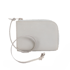Hermes Card Case Leather Gray