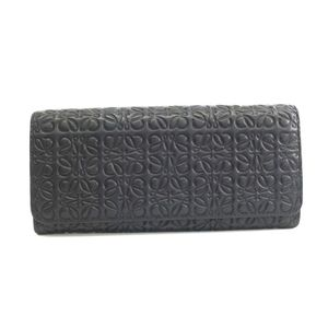 Loewe Repeat 107.55.F11 Continental Wallet Unisex Long Wallet (bi-fold) Black