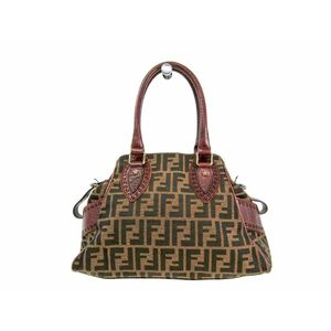 Fendi 8BN157 Women's Handbag Brown