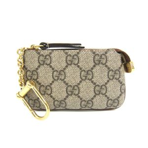 Gucci GG Supreme 447964 Unisex Coin Purse/coin Case Beige,Brown