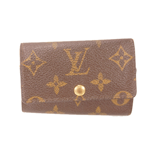 Louis Vuitton Monogram M62630 Men,Women,Unisex Monogram Key Case Brown
