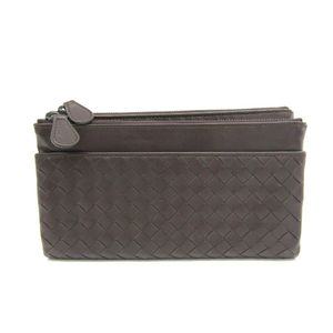 Bottega Veneta Intrecciato 210002 Unisex Long Wallet (bi-fold) Brown