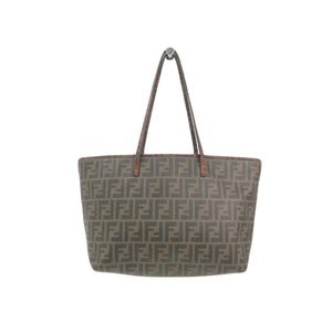 Fendi Zucca 8BH198 Women's Tote Bag Brown