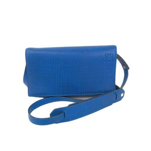 Loewe 101.88.L55 Vega Bag Women's Shoulder Bag Blue