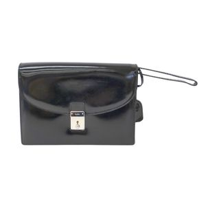 Gucci 018-2122 Unisex Clutch Bag Black