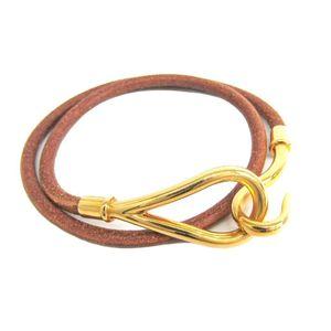 エルメス(Hermes) ジャンボ ジャンボチョーカー レザー,メタル レディース ファッション チョーカー (ブラウン,ゴールド)