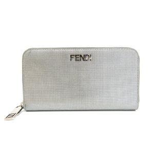 Fendi 8M0024 Unisex Long Wallet (bi-fold) Silver
