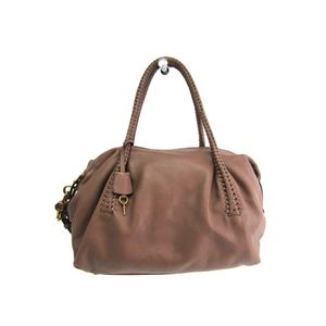 Salvatore Ferragamo Gancini 21-A506 Women's Shoulder Bag Brown