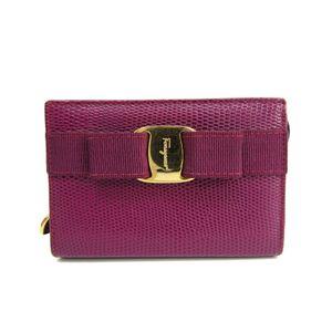 Salvatore Ferragamo Vara 22-3057 Women's Pouch Purple