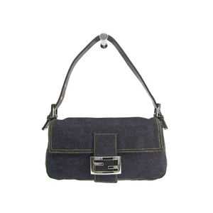 Fendi Baguette 26424 Women's Handbag Blue