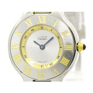 Cartier Must 21 Quartz Stainless Steel,Gold Plated Women's Dress Watch W10073R6