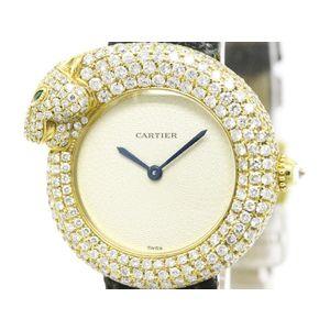 Cartier Panthere De Cartier Quartz Yellow Gold (18K) Women's Dress Watch