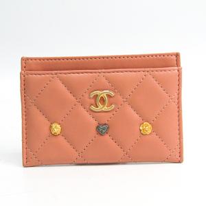 シャネル(Chanel) マトラッセ A31510 レザー カードケース ピンク