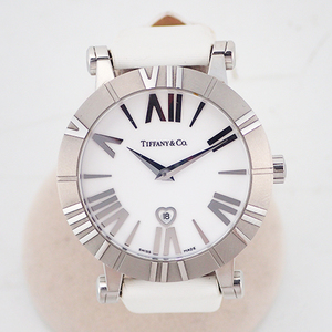 Auth Tiffany Atlas Quartz Ceramic,Stainless Steel Women's Watch Z1300.11.11A20A4